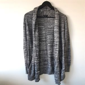 DYNAMITE Black Textured Long Sleeve Cardigan